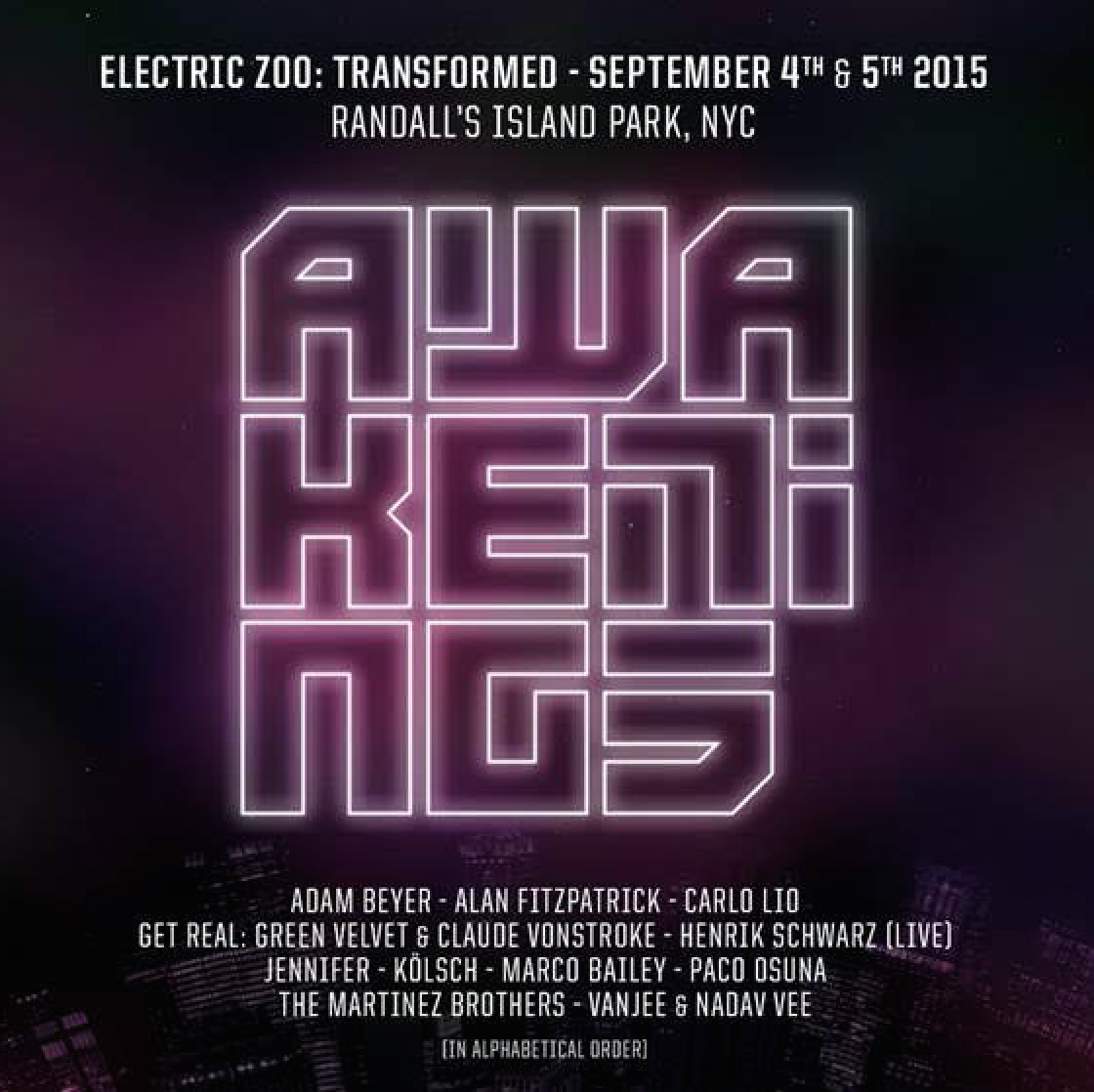 Electric Zoo announces Awakenings stage performers: Adam Beyer, Get Real, Carlo Lio and moreScreen Shot 2015 06 08 At 12.31.03 PM