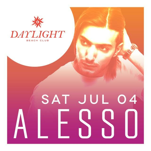 Celebrate the Fourth of July with Alesso at DaylightAlesso July 4
