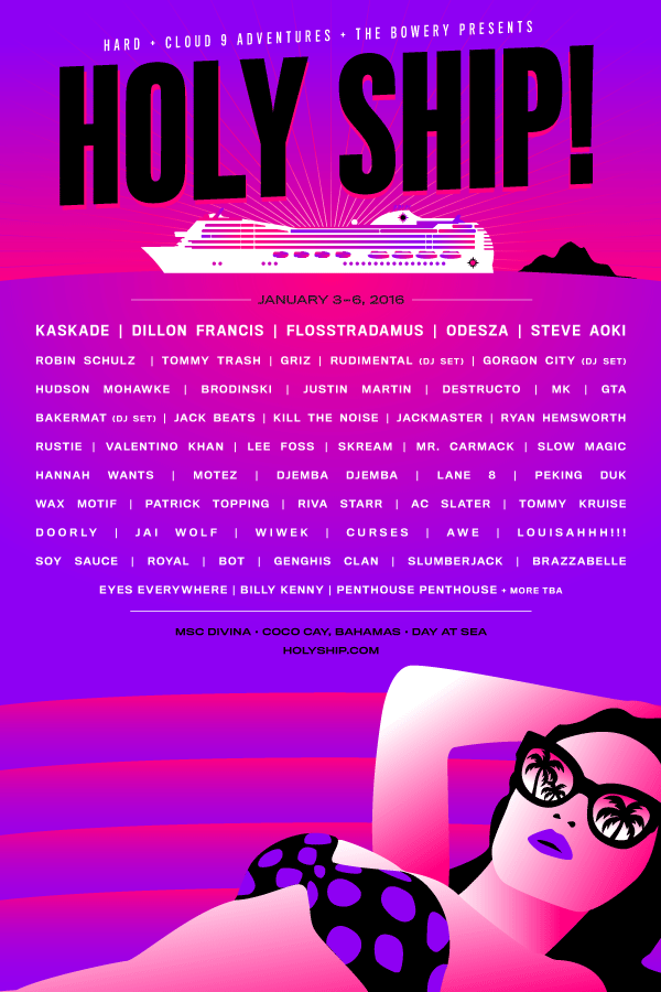 Kaskade, Porter Robinson and Dillon Francis lead Holy Ship! 2016 lineup11707638 1029471357065688 1511216828038073366 N