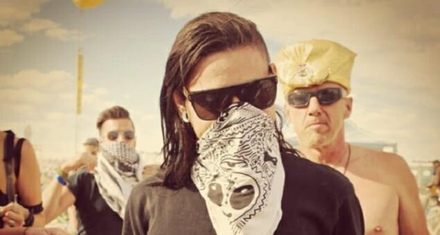 Watch Skrillex drop the bass on Burning Man