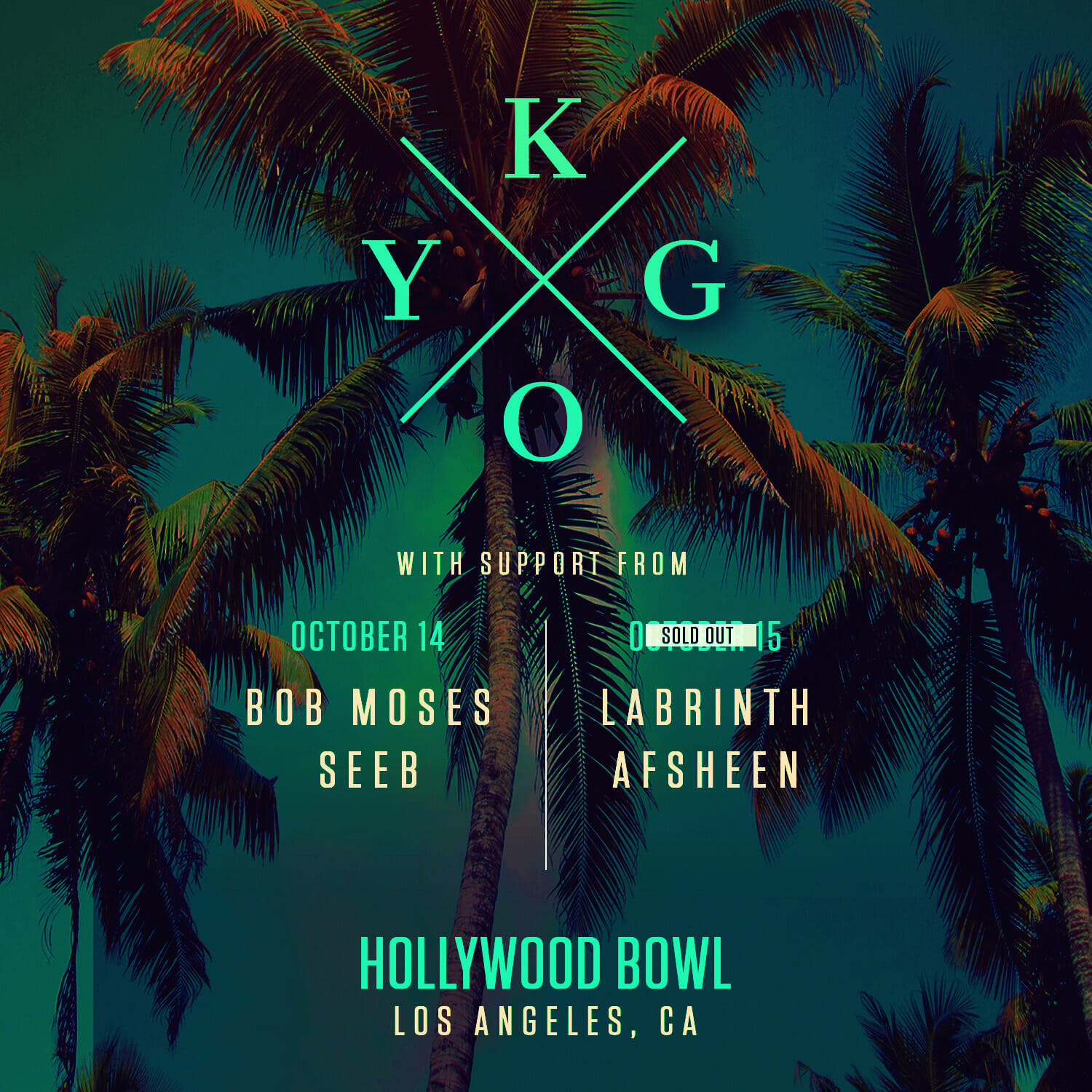 Win tickets to see Kygo at Hollywood Bowl on October 14thKygo HollywoodBowl1e Dates Sq