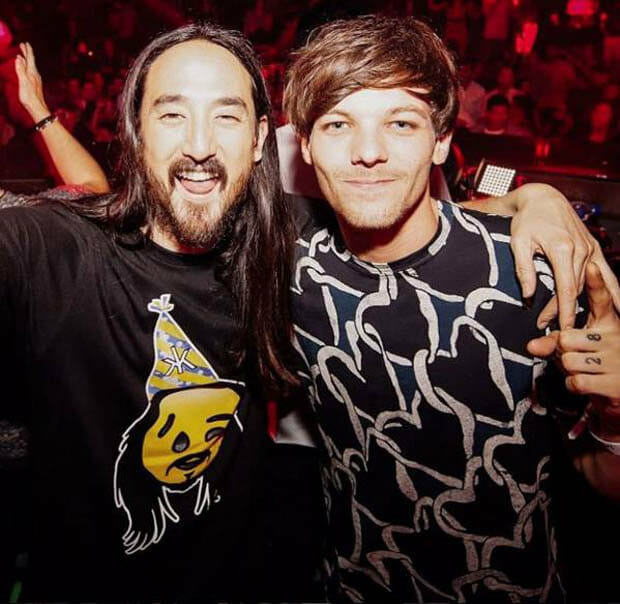 Steve Aoki & Louis Tomlinson of One Direction debut 'Just Hold On' on 'The X Factor UK'Just Hold On Louis Tomlinson Steve Aoki