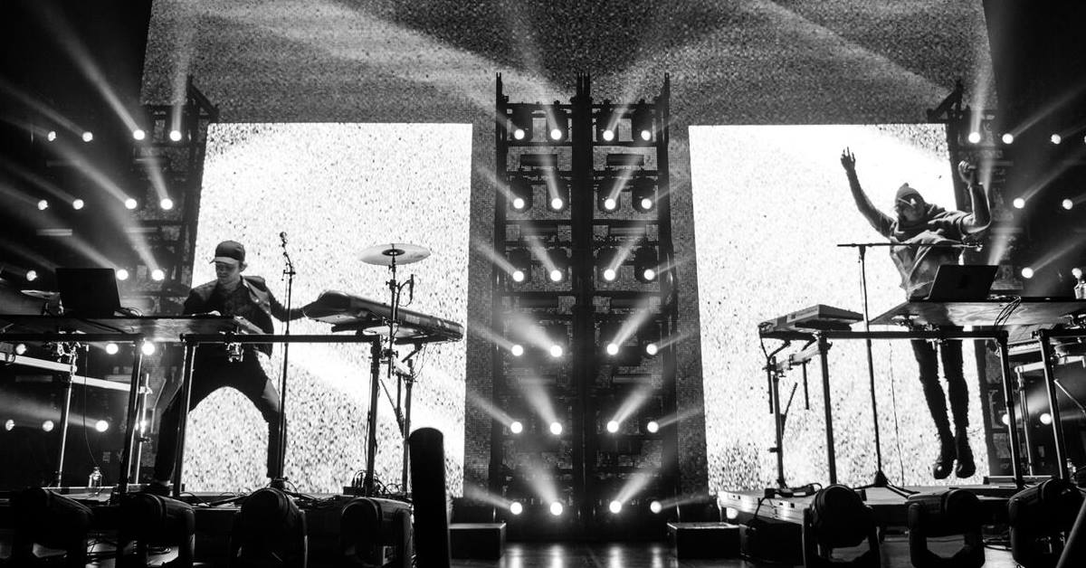 Watch videos from Porter Robinson & Madeon's final Shelter headlining showPorter Robinson Madeon Shelter Black White Visualbass Photography