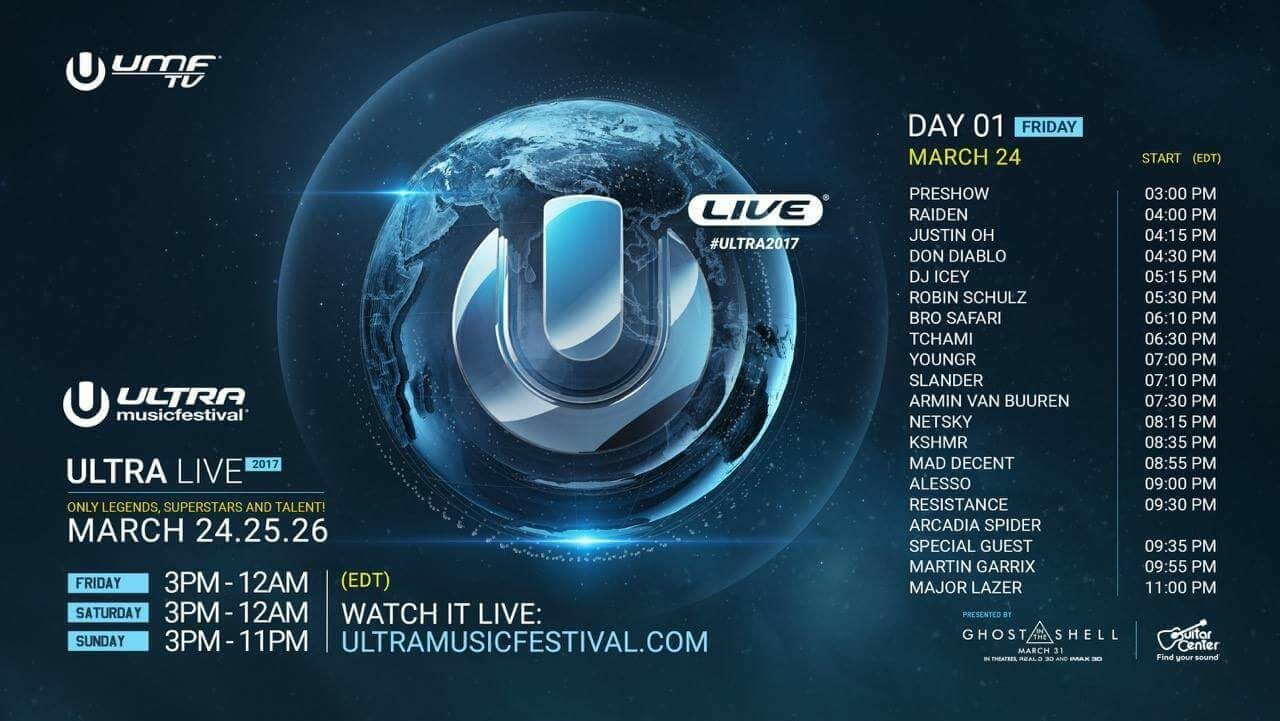 Tune in to the Ultra Music Festival Live Stream | Day 1Umf Live Stream Schedule Friday 2017