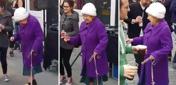 Watch this elderly woman and her dog dominate a SoHo street raveOld Woman Dancing Daft Punk