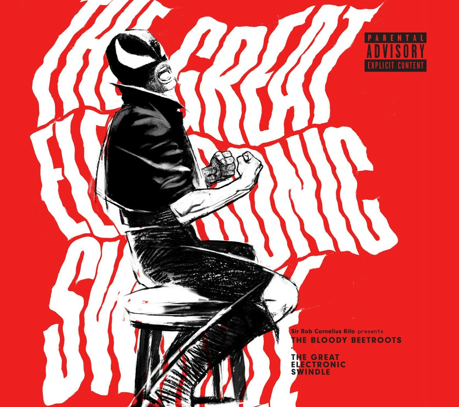 The Bloody Beetroots announce long-awaited new LP 'The Great Electronic Swindle'The Bloody Beetroots Swindle Album Cover