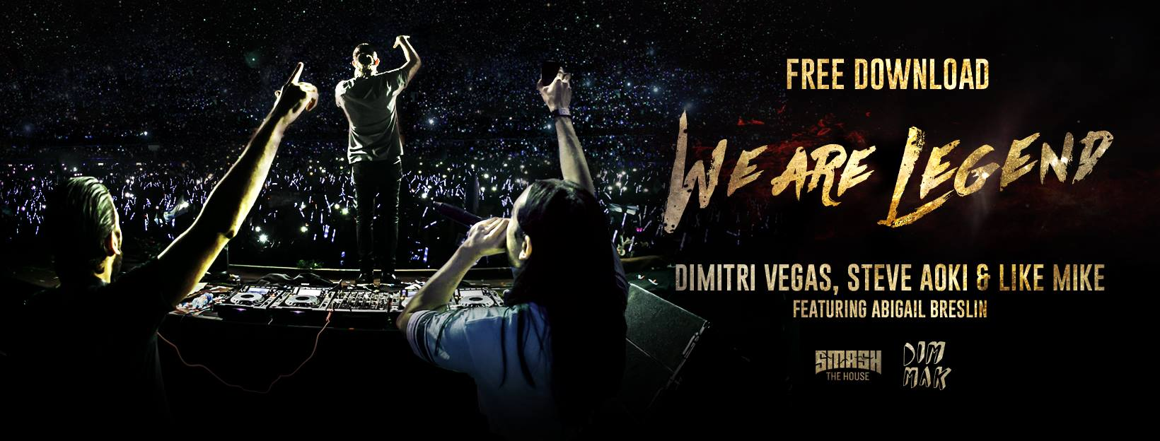 Dimitri Vegas & Like Mike vs. Steve Aoki ft Abigail Breslin – We Are Legend [Free Download]26171972 1634275666627464 6421091798932181667 O