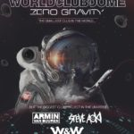 Watch the live stream of the first ever zero-gravity World Club DomeWCD Zero Gravity Lineup Poster 1