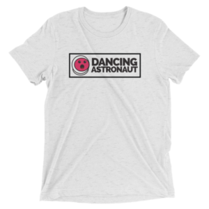 Dancing Astronaut Boxed Logo T-Shirt [black text]Mockup 1eb70d9d