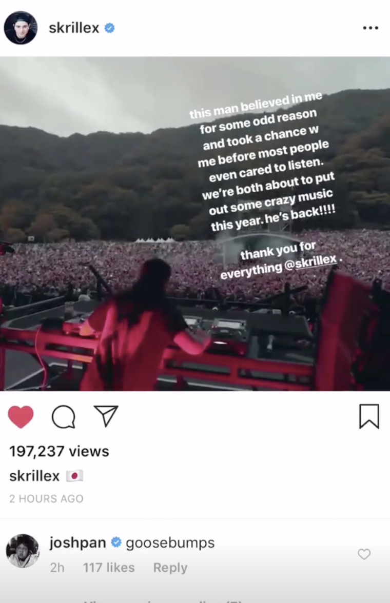 OWSLA's Josh Pan confirms Skrillex is dropping new music this year following Fuji Rock Festival performanceSkrille Reddit Josh Pan Dancing Astronaut