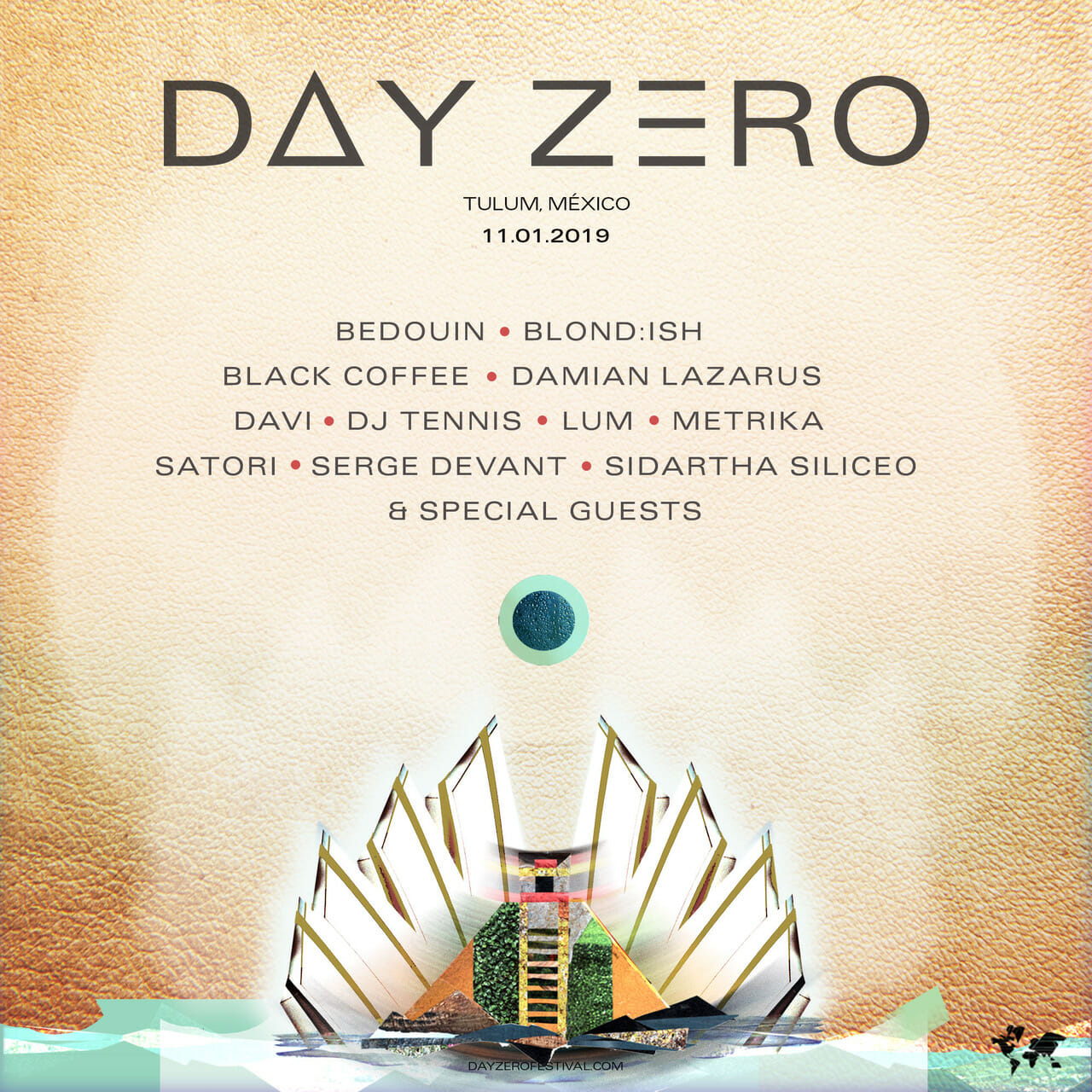 Damian Lazarus shares Day Zero lineup – Black Coffee, Bedouin, DJ Tennis, & MoreDayZero2018 MasterSquare GOLD Revised 2