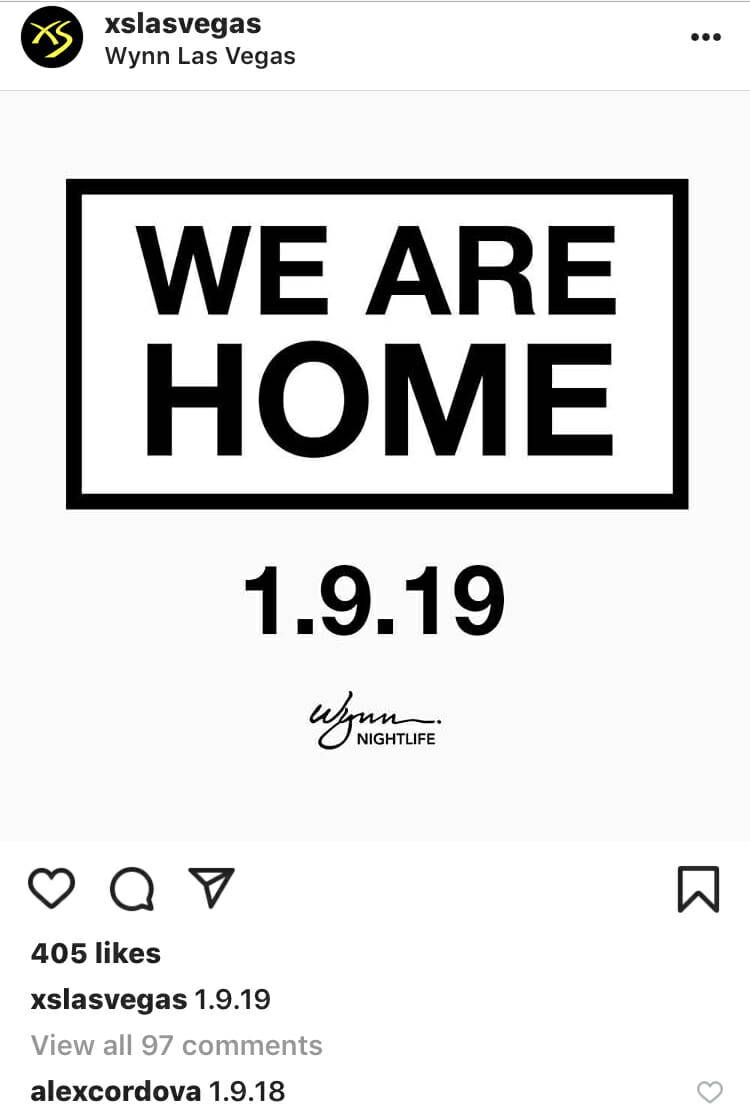 Mysterious Wynn Instagram post hints at Swedish House Mafia date — or morePhoto Jan 05 3 43 04 PM