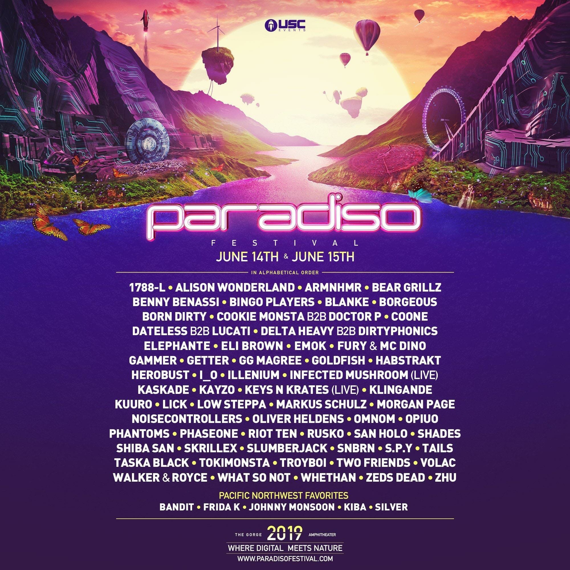 Paradiso announces stacked 2019 lineup featuring Skrillex, Kaskade, Alison Wonderland, Zeds Dead, and moreParadiso 2019