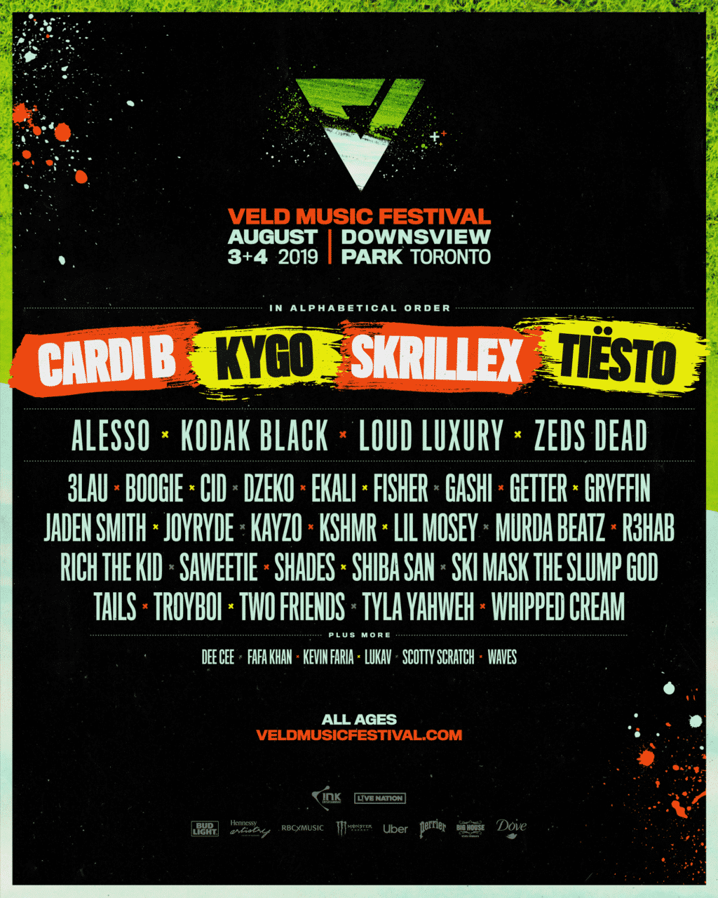 Cardi B, Skrillex, Kygo, Tiësto + more top phase one of 2019 VELD lineup