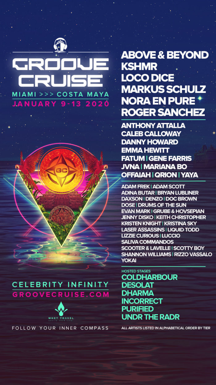 Groove Cruise Miami announces the first wave of 2020 headlinersGrooveCruise2020 Lineup InstaStory