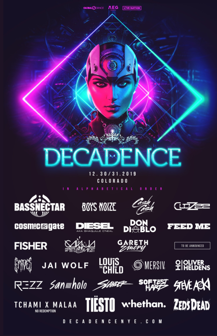 Decadence Colorado taps Louis The Child, Bassnectar, REZZ, and more for phase oneImage 1