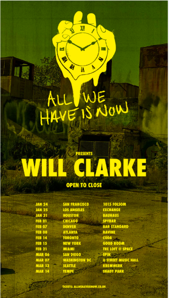Will Clarke starts his own techno label, All We Have Is Now