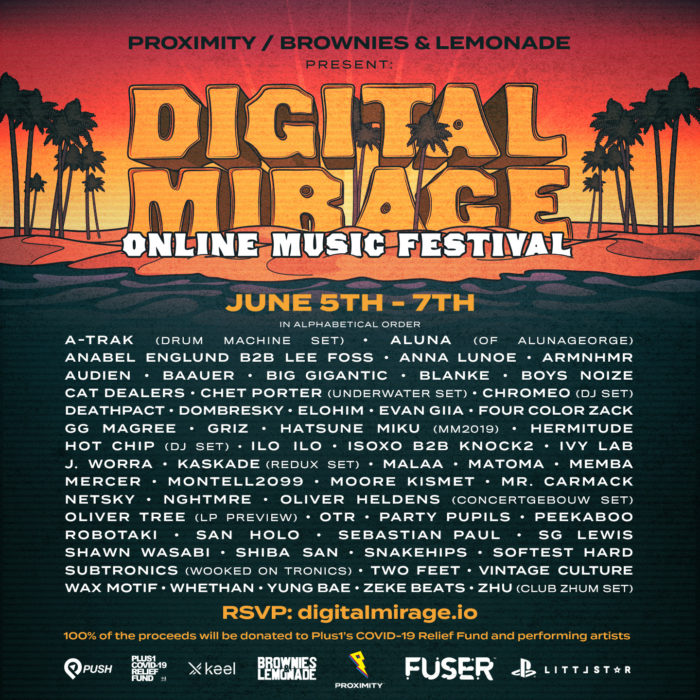 Proximity, Brownies & Lemonade double down with Digital Mirage 2.0 lineup: A-Trak, ZHU, Boys Noize, and moreDM2 Poster Square 1