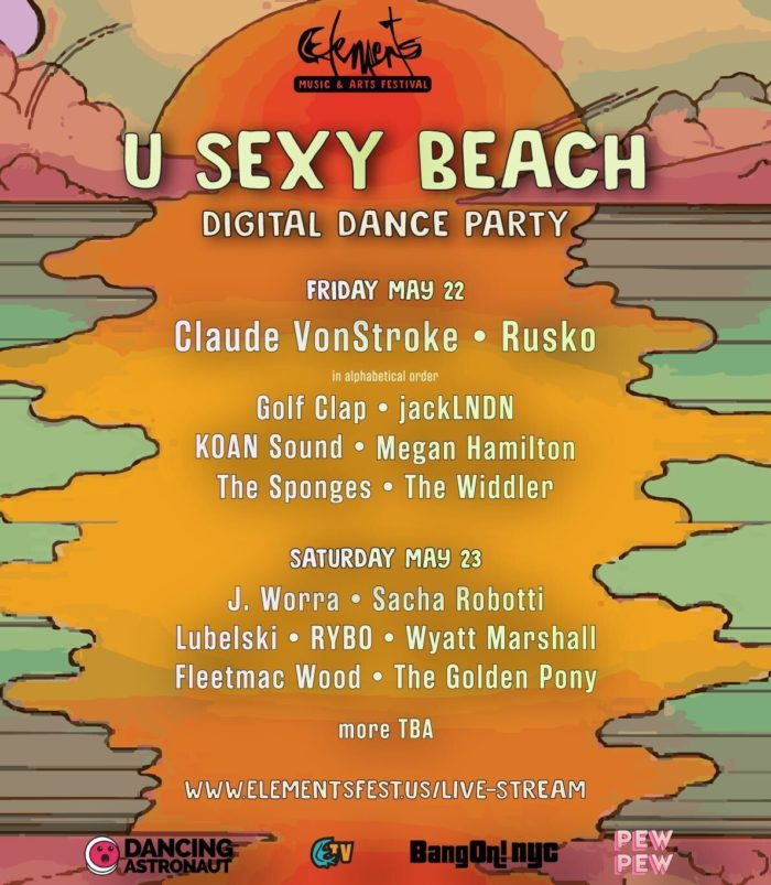 Elements Music and Arts Festival partners with Dancing Astronaut for digital 'U Sexy Beach' livestream partyImage From IOS