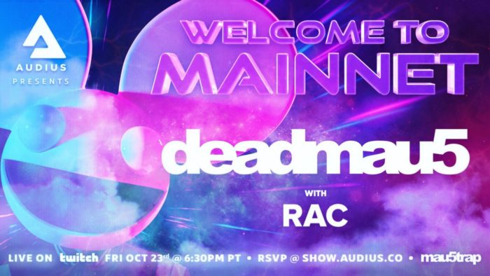 Audius marks $AUDIO launch with deadmau5 and RAC livestream1 DhVLtB3PqVecYhm0aRlQ