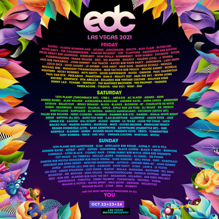 EDC Las Vegas ups the ante with 2021 lineup featuring Zedd, Martin Garrix, The Chainsmokers, and moreUnnamed 2